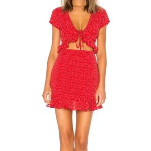 by the way Red Polka Dot Mercy Dress